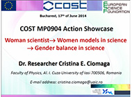 Dr. Cristina Ciomaga on Women scientists as Role models for young researchers
