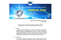 "Gender Equality in Science in ""Horizon 2020"""